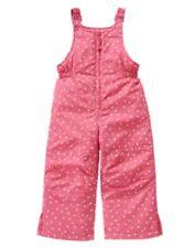 GYMBOREE COZY FAIRYTALE PINK w/ WHITE STARS SNOWSUIT BIB 6 12 24 2T 3T 4T 5T NWT