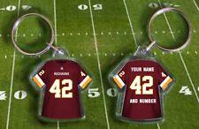 WASHINGTON REDSKINS shirt jersey KEYRING, Fully personalised name & number NFL