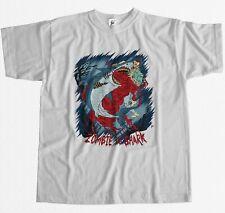 Zombie vs Great White Shark épique combat sang Brains T-shirt Homme