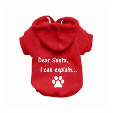 Santa Red Dog Sweatshirt Hoodie - Dog Sweater - Dog Jumper - Dog Clothing
