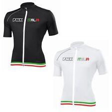 BARBIERI PNK Italia Italia Estivo Bici Ciclismo Jersey Cyle-Nero/Bianco