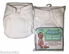 Dappi Pinless Contoured Cloth Diaper 100% Cotton Natural S-M-L Reusable Washable
