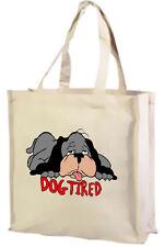CARTOON Dog, Cane stanco Cotone Shopping Bag, cartoni animati/UMORISMO-scelta di colori!