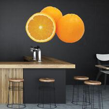 Sinaasappelschijf Vers fruit Muursticker WS-46779