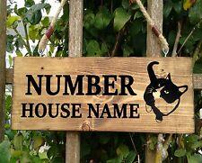 PERSONALISED Cat House Name Shed Door Kennel Workshop Playhouse Workshop Sign