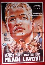 YOUNG LIONS MARLON BRANDO 1SH 1958 MAY BRITT UNIQUE MEGA RARE EXYU MOVIE POSTER