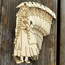 10x IN LEGNO PIRATA CIURMA Donna In Piedi Forme Artigianato 3mm legno compensato figure storiche