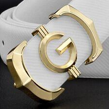 High Quality Genuine Leather Fashion G&V Belt Women Men Luxury Waist Gold Strap
