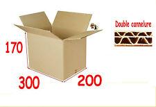 lot de 10 boîtes emballage carton 300 X 200 X 170 mm