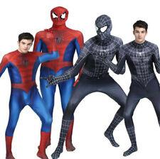 Kids Adult COS Spiderman Costume Halloween Superhero Full Body Tights Uniform
