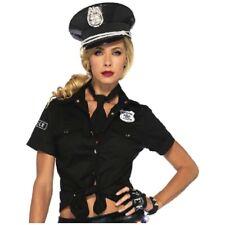Police Woman Costume Shirt Adult Cop Halloween Fancy Dress