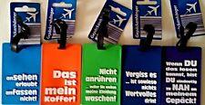 2-5x kofferanhänger Gepäckanhänger Kofferschild Namensschild Anhängergepäck Neu.