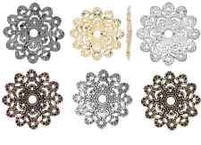 8500FX Charm Filigree, Link, Component, Centerpiece, 46x46mm, flower, 6 Qty