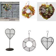 Various Metal Heart/Circle Frame Stand Succulent Pot Hanging Planter Holder