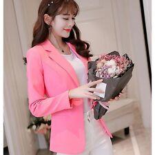 traje chaqueta de mujer ceñido corta manga larga rosa lit verano S9014