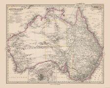 Old World Map - Australia - Stielers  1885 - 28.65 x 23