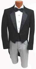 Men's Raffinati Black Tuxedo Tailcoat 100% Wool Satin Notch Lapels *Made in USA*