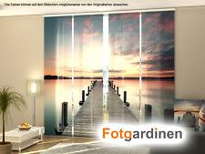 Fotogardinen Pier, Schiebevorhang mit Motiv Schiebegardinen, Fotodruck, nach Maß