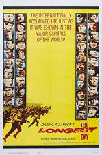 The Longest Day (1962) John Wayne movie poster print