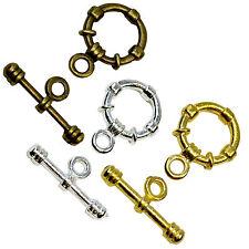 Rond toggle Fermoirs Or Argent Bracelet Bronze Antique Bijoux conclusions en vrac