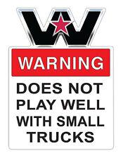 WESTERN STAR TRUCK  WARNING STICKER 16 X 12 cm