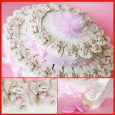 Bomboniere nascita battesimo compleanno torte magneti elefantini rosa bimba