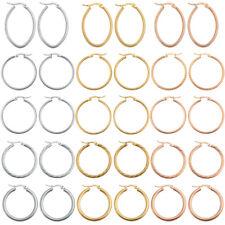 Women's Stainless Steel Fashion Hoop Earrings Charm Ear Jewelry Silver/Rose/Gold