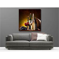 Tableaux toile déco carré bouteille de vin 72818872