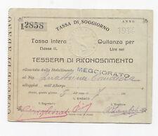 F625-ABANO TERME-TESSERA RICONOSCIMENTO TASSA SOGGIORNO