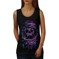 Cráneo astronauta espacio mujeres Camiseta sin mangas Nuevo | wellcoda