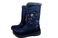 Ricosta Reni Warm Kinder Leder Schuhe mit LED Stiefel Gr.26-32 blau 9026200172
