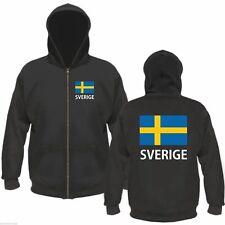 SVERIGE Kapuzenjacke - Schwarz - Größe M bis XXL - schweden hoodie jacke