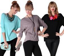 Longshirt Bluse Shirt mit Fledermausärmel Top 7 Farben, 0127