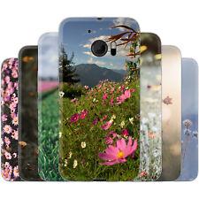 dessana Blumenwiese TPU Silikon Schutz Hülle Case Handy Tasche Cover für HTC