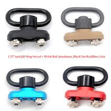 Black/Tan/Red/Blue 1.25'' QD Push Button Sling Swivel+M-lok Rail Attachment Set