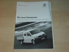 31501) VW Bus T5 Transporter Preise Extra Prospekt 2004