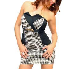 Vestito fascia donna vestitino peplum abito peplo abiti bandeau vestiti party