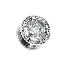Piercing Flesh Tunnel Earrings Luxury Star 316L Surgical Steel