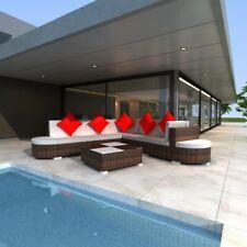vidaXL Loungeset Poly Rattan Bruin 27-delig Tuin Buiten Meubel Lounge Set Sets