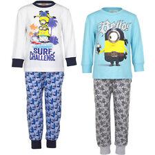 Neuf Vêtements de nuit Lot pyjamas filles garçons Minions TURQUOISE BLANC 98 104