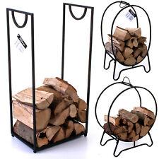 Firewood Rack Log Storer Indoor Fireside Wood Cart Mover Carrier Stand Storage