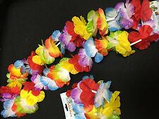 6 / 12 Packs Hawaiian Flower Leis Necklace & Bracelet Sets Summer Fancy Dress