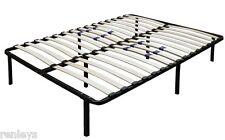 All Sizes Metal Platform Bed Frame with Wood Slats Adjustable Lumbar Support