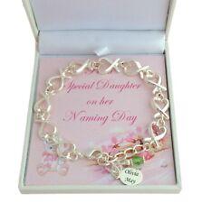 Personalised Naming Day Bracelet, Naming Day Gift for Girl, Birthstone Bracelet