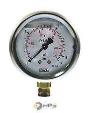 WIKA Glycerin Vakuum Manometer Ø63 senkrecht verschiedene Typen Hydraulik