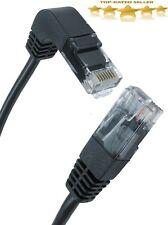 Cat5e Copper RJ45 Straight to Right Angle Plug DOWN Network Cable lot