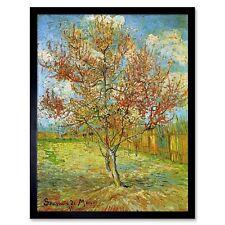 VINCENT VAN GOGH PINK PEACH TREE IN BLOSSOM REMINISCENCE MAUVE ART PRINT 2867OMB