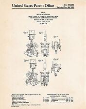 1960 IDEAL Mr Machine Robot PATENT Art Print Original Mechanical Wind Up Toy