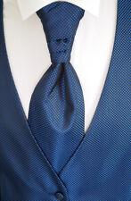 PANCIOTTO nozze con plastron,fazzoletto da taschino e cravatta blu nr.14.4