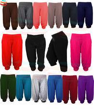 Womens ALI BABA 3/4 length lot Trouser Baggy Short Harem Pants Summer 8-26